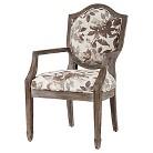 Hampton Shield Back Exposed Wood Arm Chair