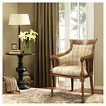 Wilshire Spooled Leg Traditional Exposed Wood Arm Chair