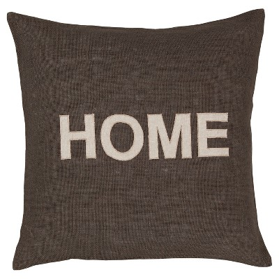 "Hot Now ""Home"" Throw Pillow (22""x22"")"