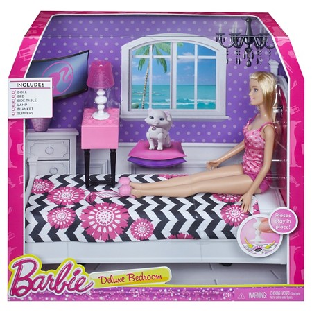barbie doll and bedroom furniture set target