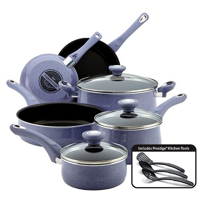 Farberware New Traditions Speckled 12 Piece Cookset - Lavender