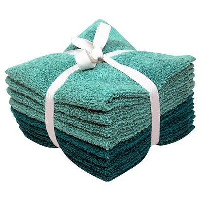 Room Essentials™ 8-pk. Solid Textured Washcloth Set - Teal Blue/Sunbleached Turquoise