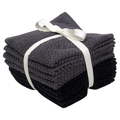 Room Essentials™ 8-pk. Solid Textured Washcloth Set - Nighttime Blue/Washed Indigo