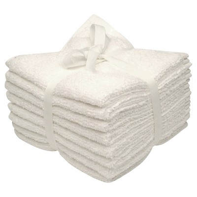 Room Essentials™ 8-pk. Solid Textured Washcloth Set - True White