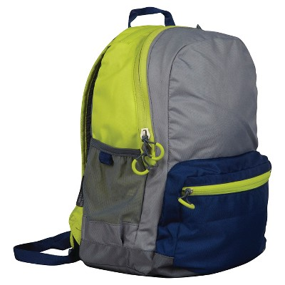 "Embark 17"" Recycled Content Jartop Backpack - Yellow/Grey"