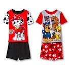Toddler Boys' 4-Piece Mix & Match Paw Patrol Pajama Set