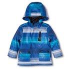 Toddler Boys' Striped Raincoat - Blue