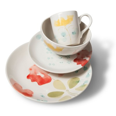 Threshold™ Floral 16 Piece Dinnerware Set