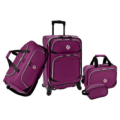 Beverly Hills Country Club San Vincente 4pc. Luggage Set - Purple