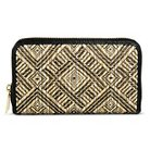 Women's Woven Diamond Print Cell Phone Case Wallet Black/Tan - Merona™