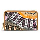 Women's Tribal Print Wallet with Zipper Closure - Black & Orange- Merona™