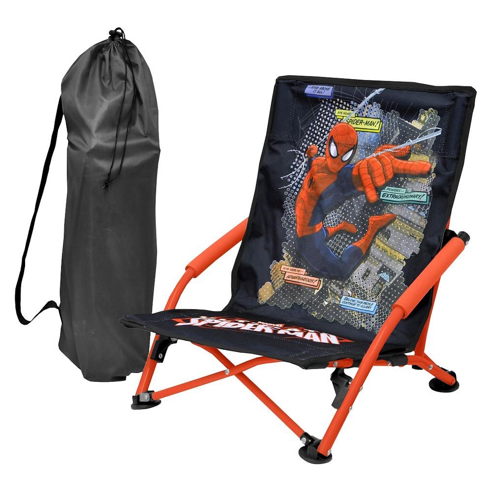 Marvel Spider-Man Folding Lounge Chair, Black
