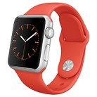 Apple® Watch Sport 38mm Silver Aluminum Case with Orange Sport Band