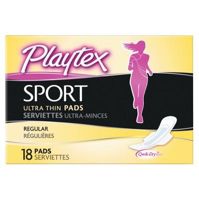 Playtex Sport Ultra Thin Pads, Regular 18ct