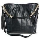 Women's Faux Leather Sam & Libby Hobo Handbag with Tassel and Crossbody Strap