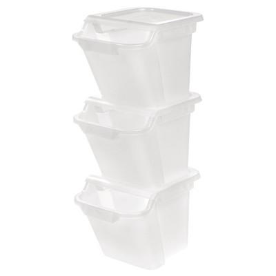 IRIS 18.4 Qt Recycle Storage Bin - 6 Pack