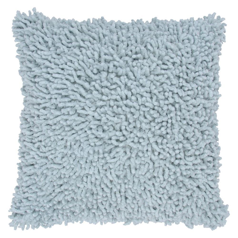 Rizzy Home Shag Decorative Throw Pillow - Aqua (Blue)
