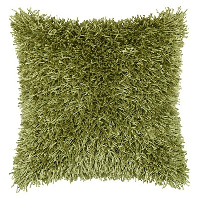 """Tufted Shag Throw Pillow Lime (18""""x18"""") - Rizzy Home"""