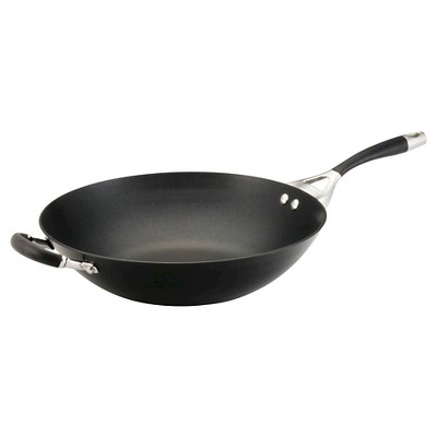 Circulon Elite 14 Inch Hard-Anodized Non-stick Open Stir Fry