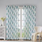 "Reese Mdallion Burn-Ot Sher Curtain Panel - Grey (52""x95"")"