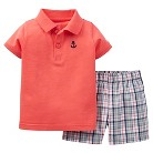Just One You™Made by Carter's® Toddler Boys' 2 Piece Plaid Short Set - Maroon