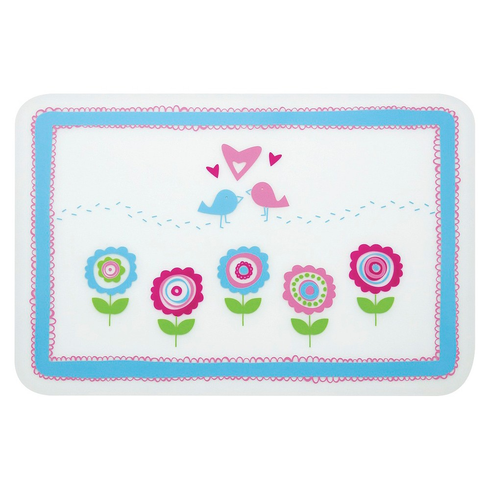 Bumkins Silicone Baby Placemat - Birds & Flowers, Multi-Colored
