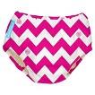 Charlie Banana Reusable Swim Diaper - Hot Pink Chevron (Select Size)