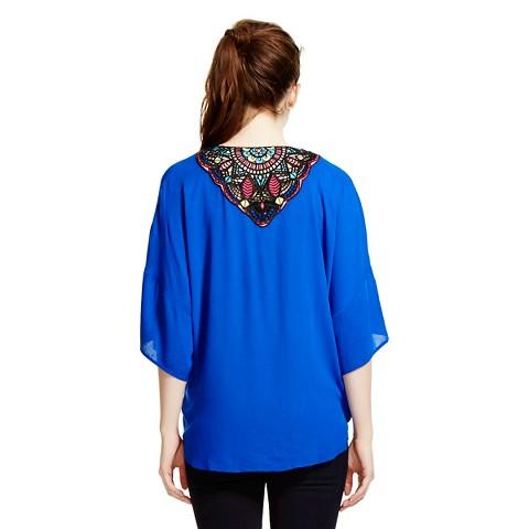 Crochet Back Kimono Jacket - Xhilaration®