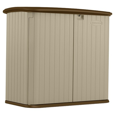 suncast outdoor storage container brown product details page
