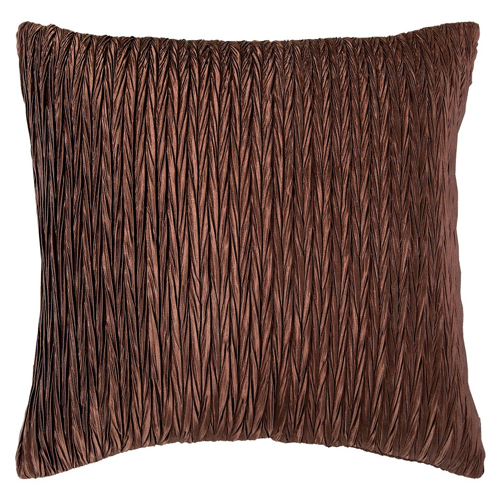 RIZZY HOME DETAILED DECORATIVE THROW PILLOW - COFFEE
