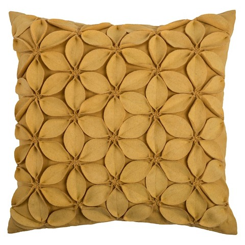 leaves applique throw pillow rizzy home target