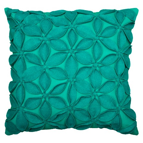 Rizzy Home Leaves Applique Decorative Pillow : Target