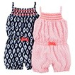 Just One You™Made by Carter's® Newborn Girls' 2 Pack Romper Set - Coral/Blue