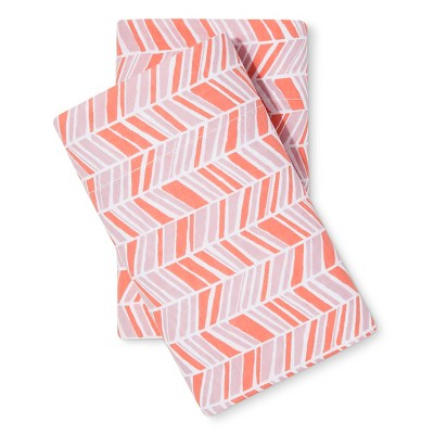 Easy Care Pillowcase Coral Chevron (Standard) - Room Essentials™