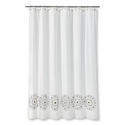 Threshold™ Medallion Shower Curtain - Cream