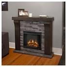 Real Flame Avondale Cast Electric Decorataive Fireplace - Gray Ledgestone