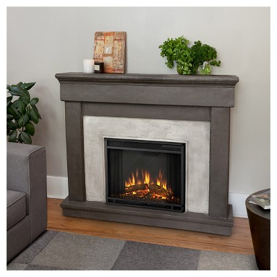 Real Flame Cascade Cast Electric Decorative Fireplace - Dune Stone