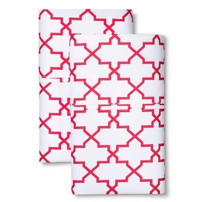 Sabrina Soto Calypso Hotel Pillowcase Set - Coral (Standard)