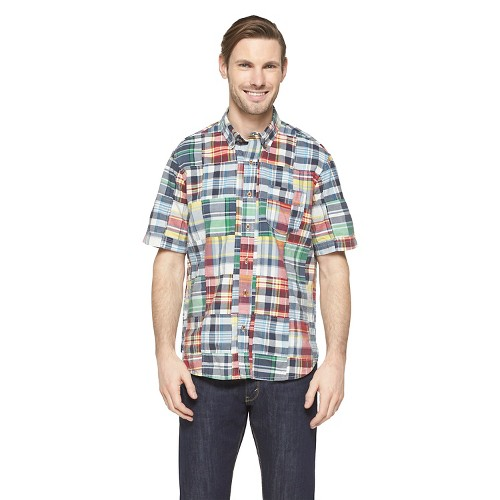 Men s madras patchwork shirt olde school ebay for Mens madras shirt sale