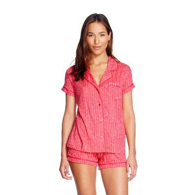 Women's Sleep Fluid Knit Pajama Set Playful Coral - Gilligan & O'Malley™