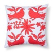 Sabrina Soto Ele Otomi Decorative Pillow - Coral