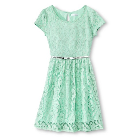 Girls lace a line dress product details page