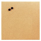 The Board Dudes Magnetic Canvas Cork Board, 17 x 17, Unframed Cork