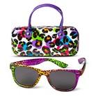 Girls' 2-Piece Leopard Print Fashion Sunglass & Case