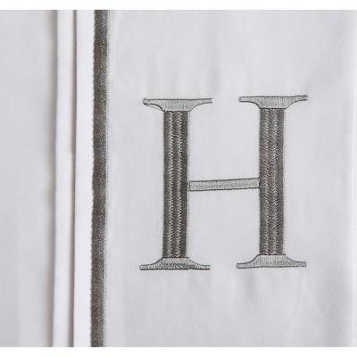 Monogram Letter H Pillowcase 2 Pack - White (Standard)