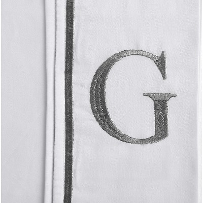 Monogram Letter G Pillowcase 2 Pack - White (Standard)
