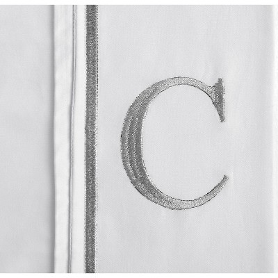 Monogram Letter C Pillowcase 2 Pack - White (Standard)