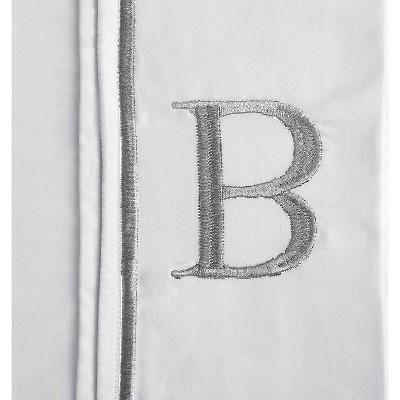 Monogram Letter B Pillowcase 2 Pack - White (Standard)