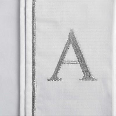 Monogram Letter A Pillowcase 2 Pack - White (Standard)