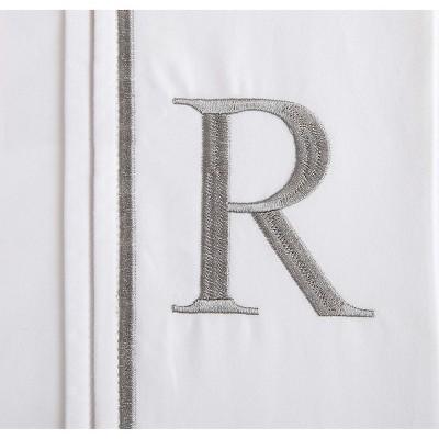 Monogram Letter R Pillowcase 2 Pack - White (Standard)
